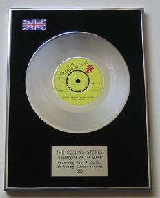 ROLLING STONES - Undercover Of The Night Platinum single presentation DISC